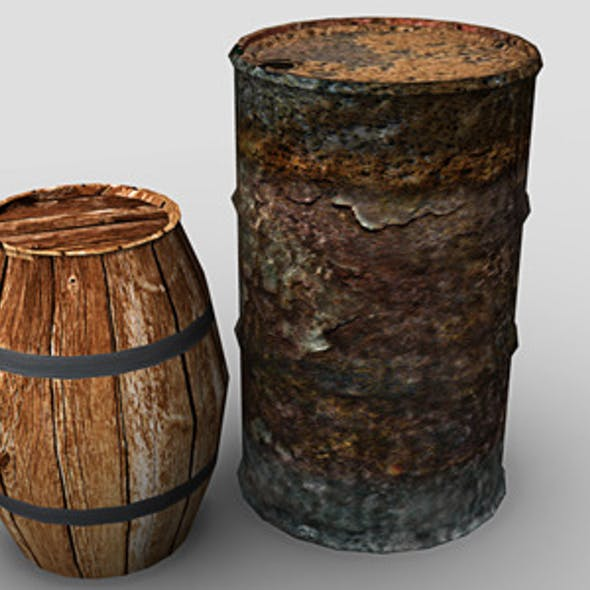 Barrel and Oil Drum