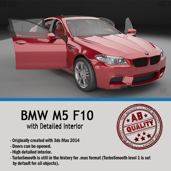 BMW F10 M5 (with Detailed Interior) Vray