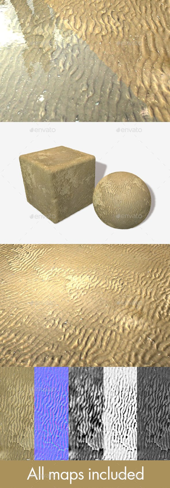 Wavy Wet Sand Seamless Texture - 3DOcean Item for Sale