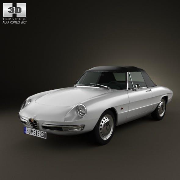 Alfa Romeo 1600 Spider Duetto 1966 - 3DOcean Item for Sale