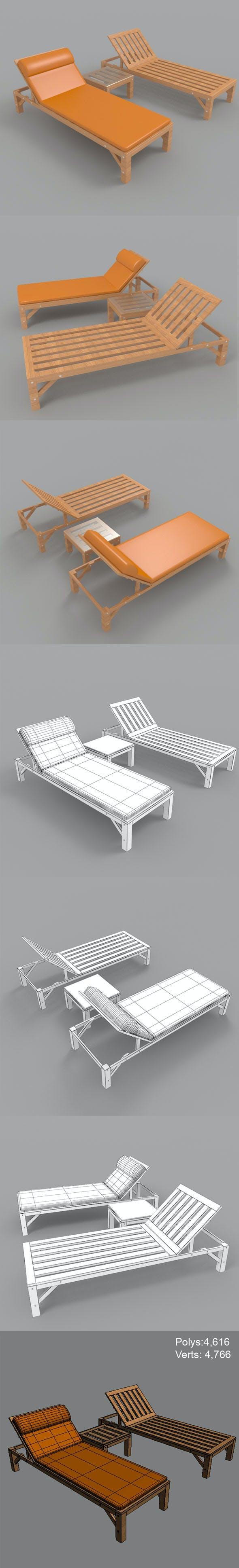 Sunbed-1 - 3DOcean Item for Sale