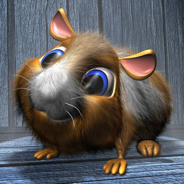 Cartoon Hamster RIGGED