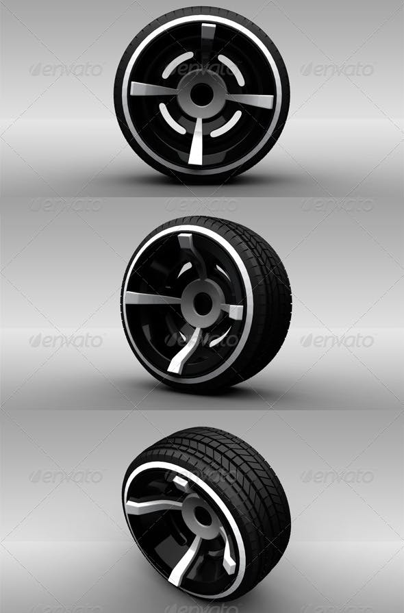 Wheel 3 - 3DOcean Item for Sale