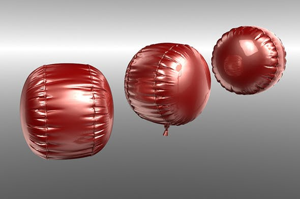 Cylindrical balloon - 3DOcean Item for Sale