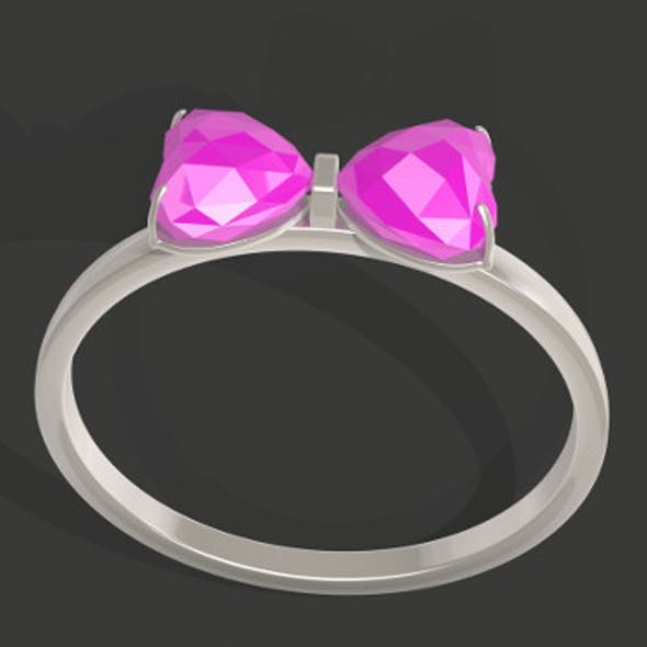 Bowtie Shapped Gem Ring