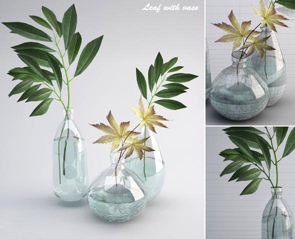 Leaf wiht Vase - 3DOcean Item for Sale
