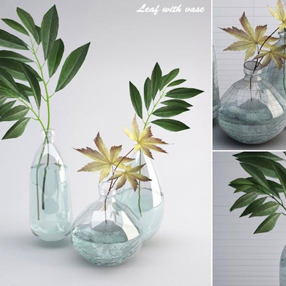 Leaf wiht Vase