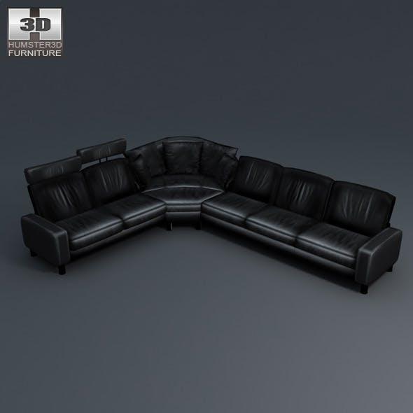 Space corner sofa - Ekornes Stressless - 3D Model. - 3DOcean Item for Sale