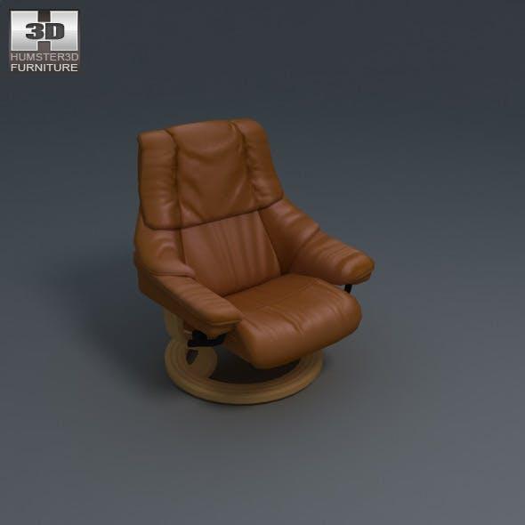 Tampa Chair - Ekornes Stressless - 3D Model.  - 3DOcean Item for Sale