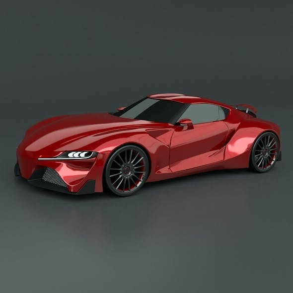 Toyota FT1 racing car restyled