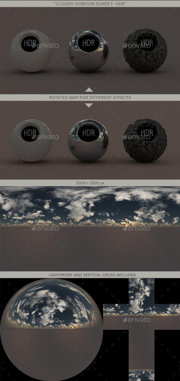Cloudy Horizon Sunset - 3DOcean Item for Sale