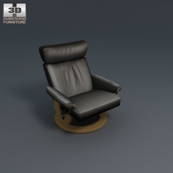 Taurus Chair - Ekornes Stressless - 3D Model.  - 3DOcean Item for Sale