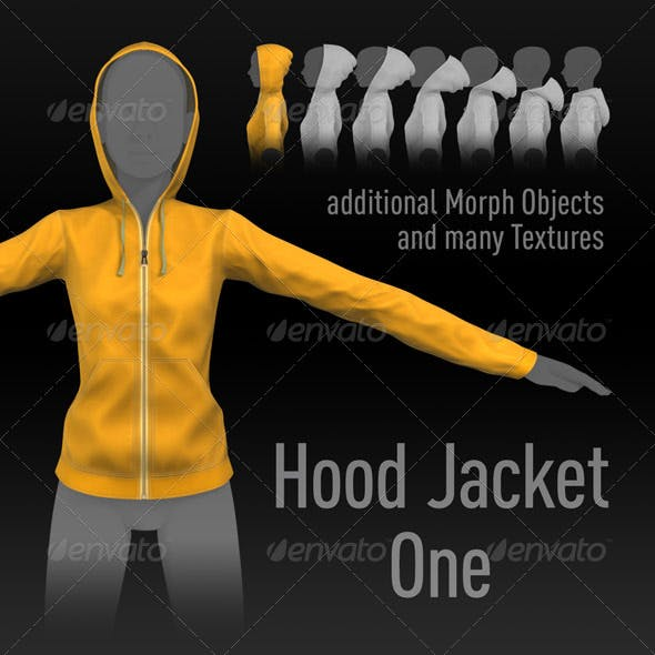 Hood Jacket One, additional Morphs, many Textures