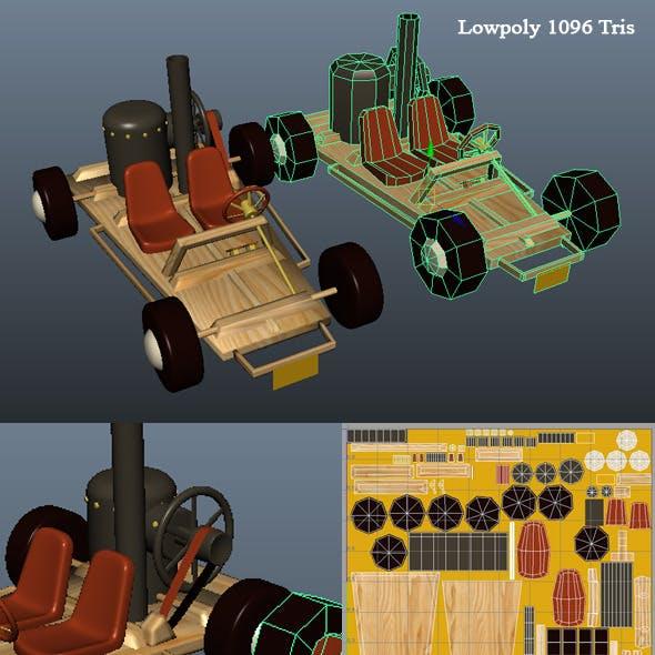3D Steam Kart Model