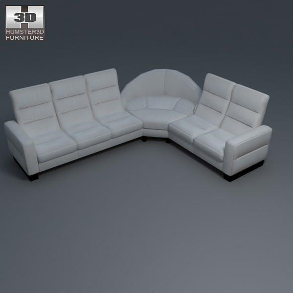Wave corner sofa - Ekornes Stressless - 3D Model. - 3DOcean Item for Sale