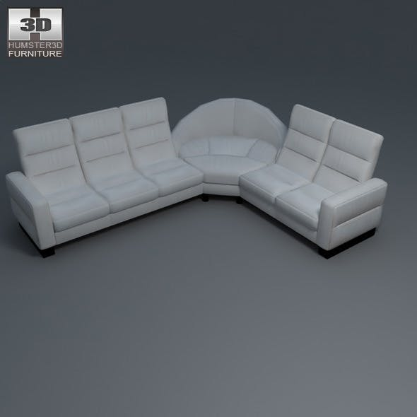 Wave corner sofa - Ekornes Stressless - 3D Model.