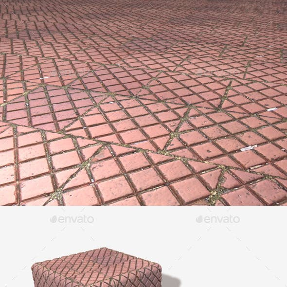 Pavement Patterned Tile Seamless Texture