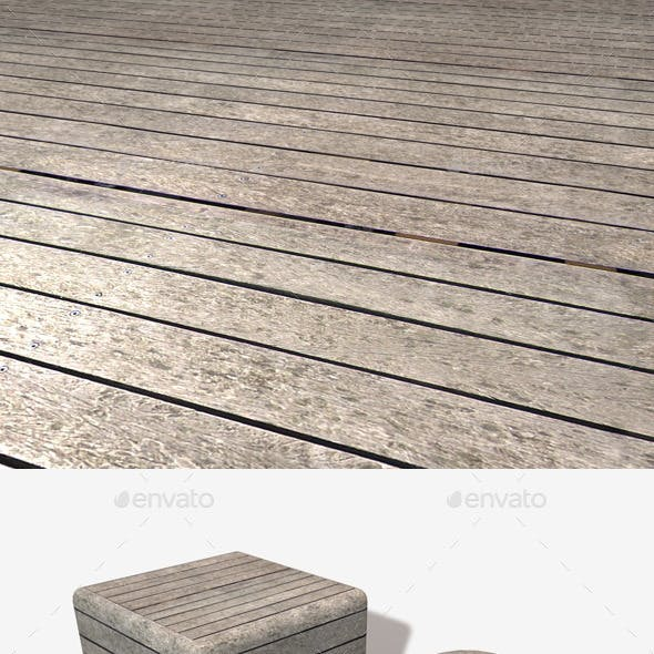 Weathered Wooden Planks Seamless Texture
