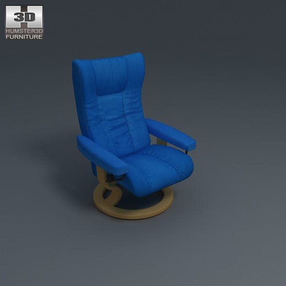 Wing Chair - Ekornes Stressless - 3D Model.  - 3DOcean Item for Sale