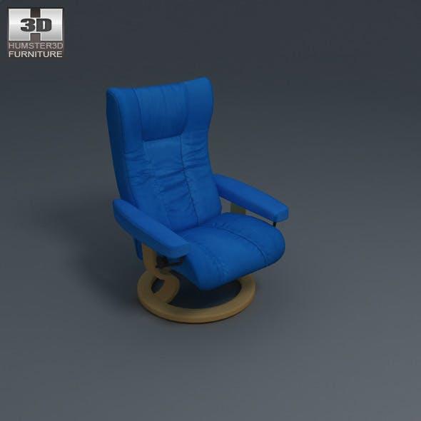 Wing Chair - Ekornes Stressless - 3D Model.