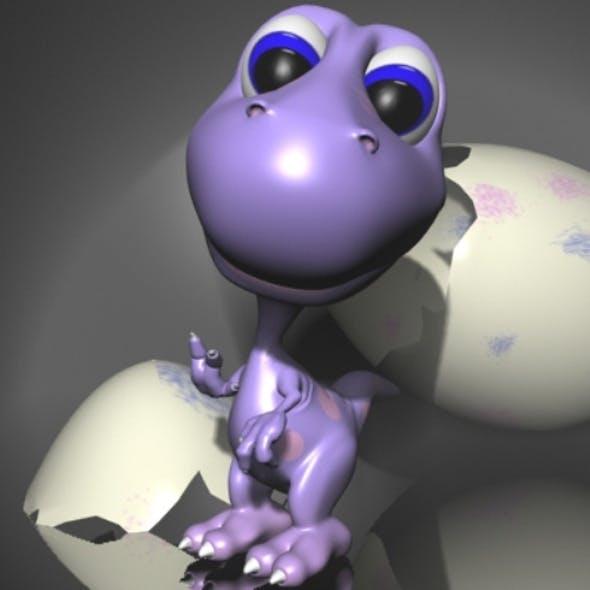 Baby Dino Rigged