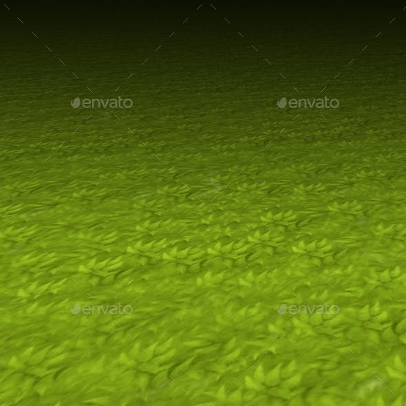 Hand painted grass