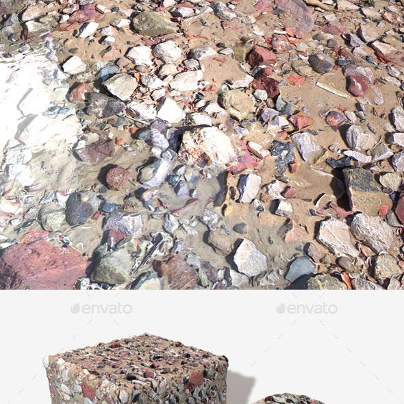 Beach Rubble 2 Seamless Texture