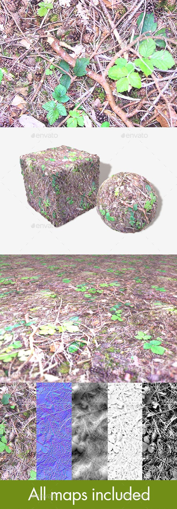 Forest Ground Seamless Texture - 3DOcean Item for Sale