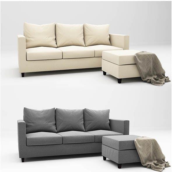 Adam sofa - 3DOcean Item for Sale