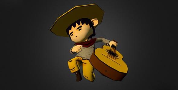 The Guitarist - 3DOcean Item for Sale
