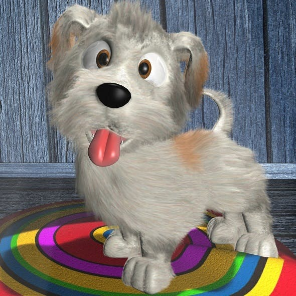 Cartoon Dog Rigged