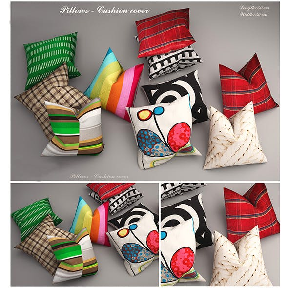 Pillows ikea - 3DOcean Item for Sale