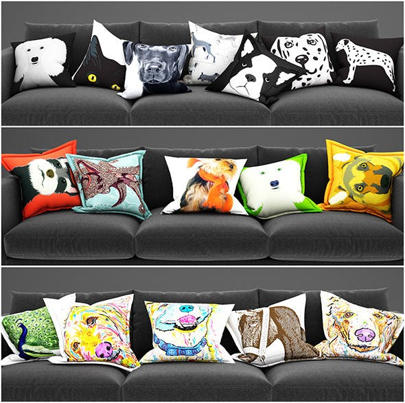 Pillows animals - 3DOcean Item for Sale