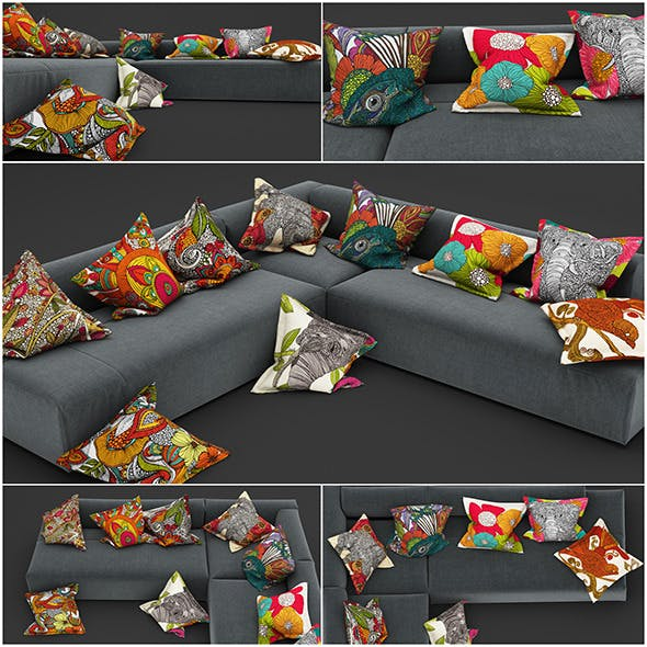 Pillows 35 - 3DOcean Item for Sale