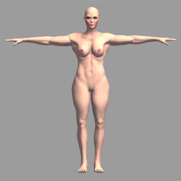 Nude Muscular Female