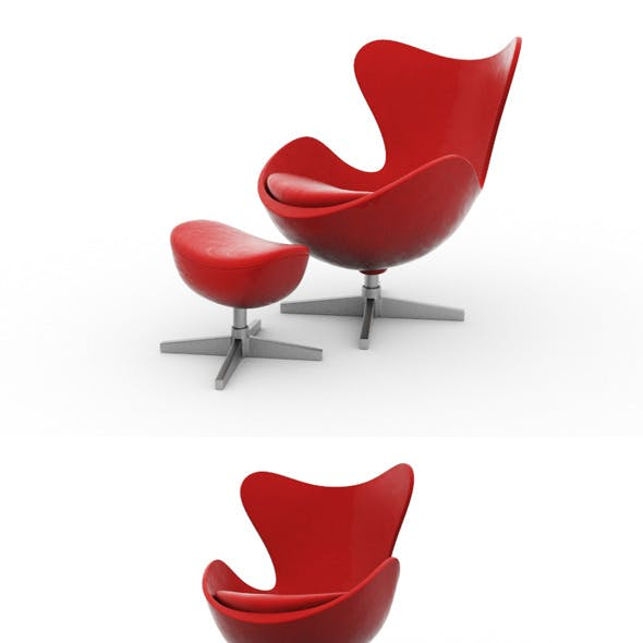 Modern Lounge Chair with Table