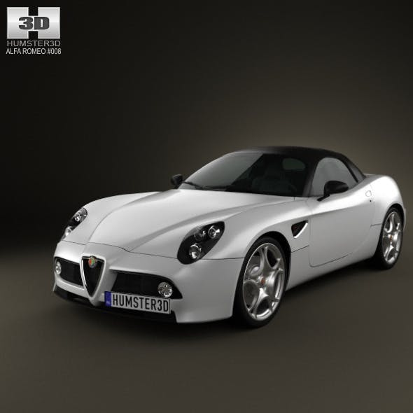 Alfa-Romeo 8c Spider 2011 - 3DOcean Item for Sale