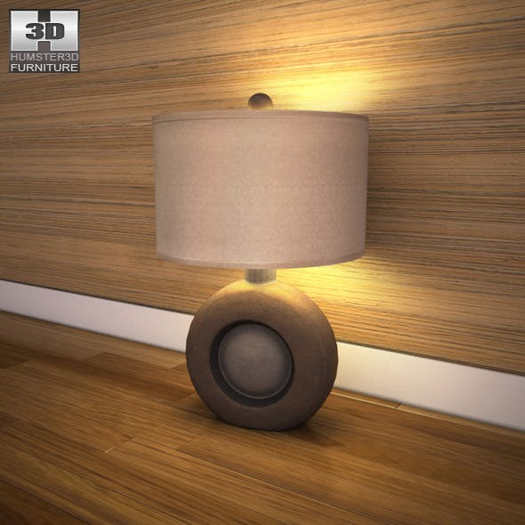 Ashley Havianna Table Lamp - 3D model. - 3DOcean Item for Sale