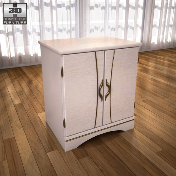Ashley Havianna Night Stand - 3D model. - 3DOcean Item for Sale