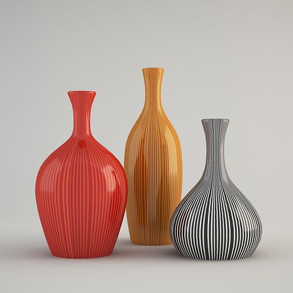 Color vase - 3DOcean Item for Sale