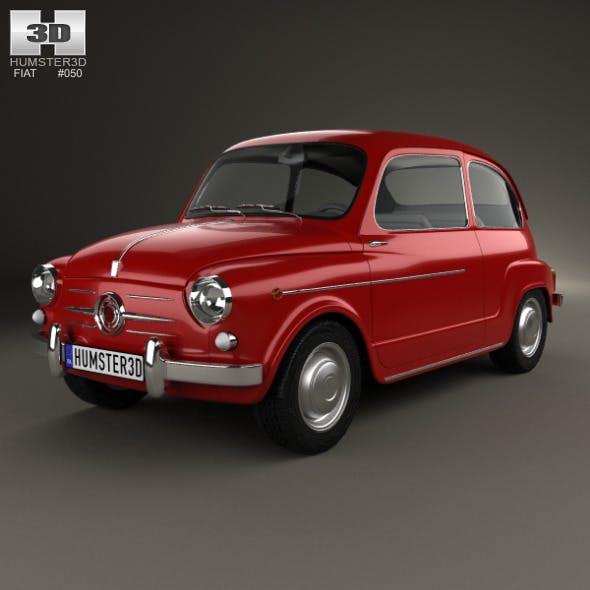 Fiat 600 D 1960 - 3DOcean Item for Sale