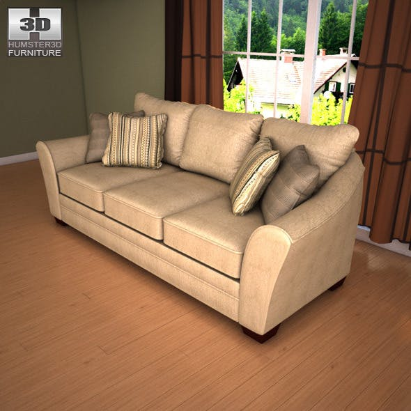 Ashley Lena - Putty Sofa - 3D Model. - 3DOcean Item for Sale