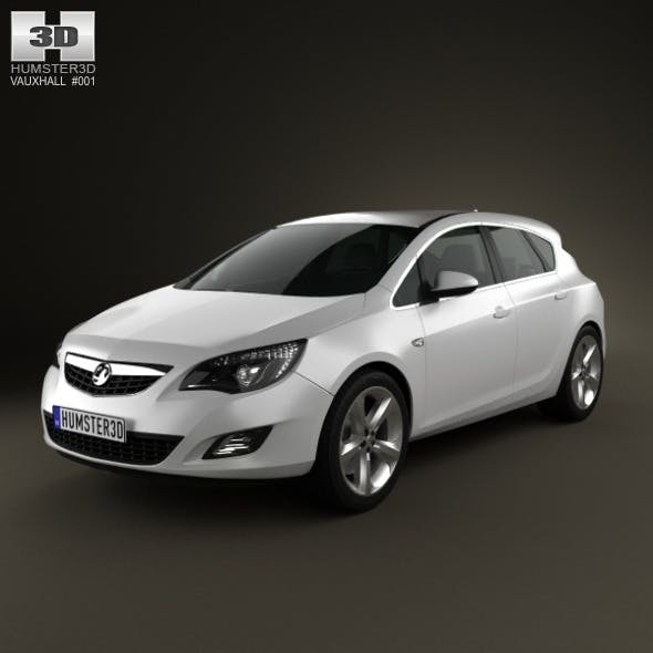 Vauxhall Astra Hatchback 5-door 2011 - 3DOcean Item for Sale