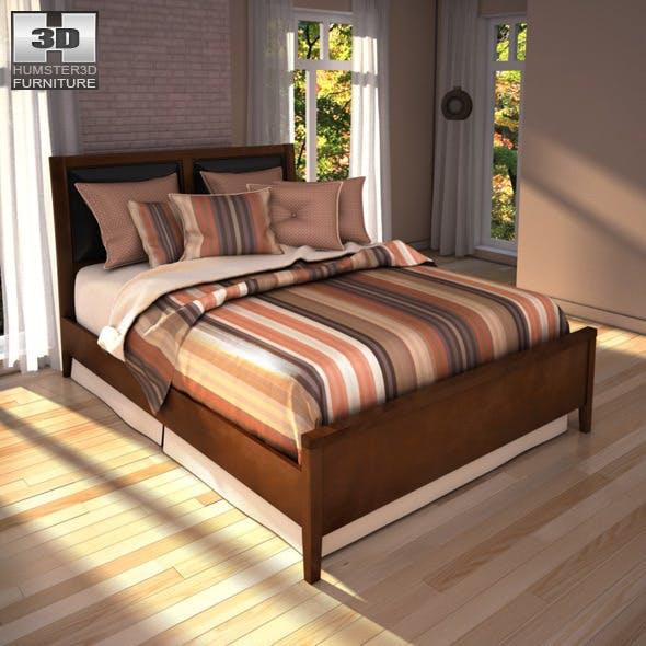 Ashley Nico Queen Panel Bed - 3D model. - 3DOcean Item for Sale