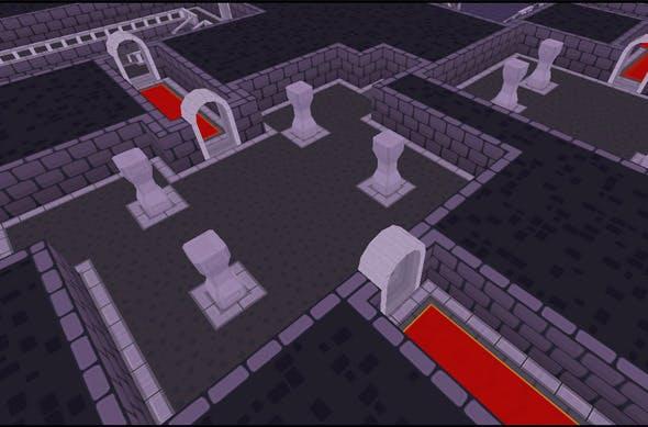Top-Down Cartoon Dungeon Tileset - 3DOcean Item for Sale
