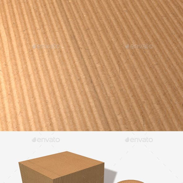 Ribbed Cardboard Seamless Texture