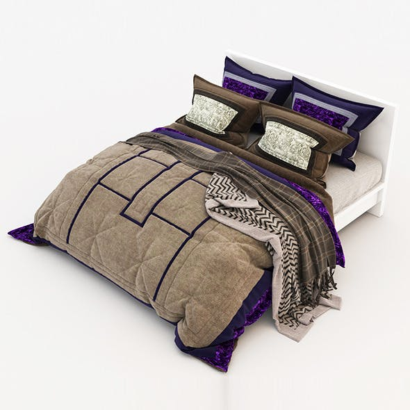 Bed 19 - 3DOcean Item for Sale