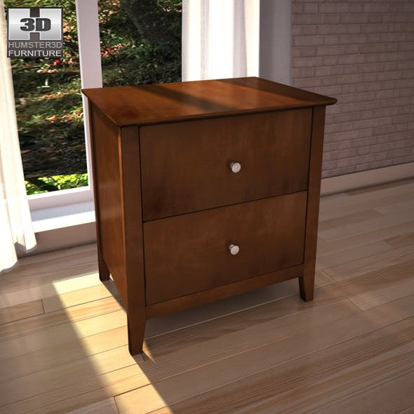 Ashley Nico Nightstand - 3D model. - 3DOcean Item for Sale