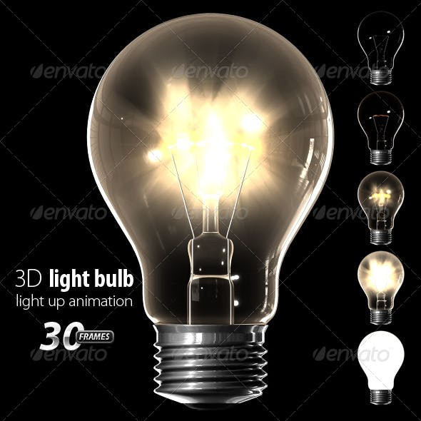 Light bulb (light up animation) - 3DOcean Item for Sale