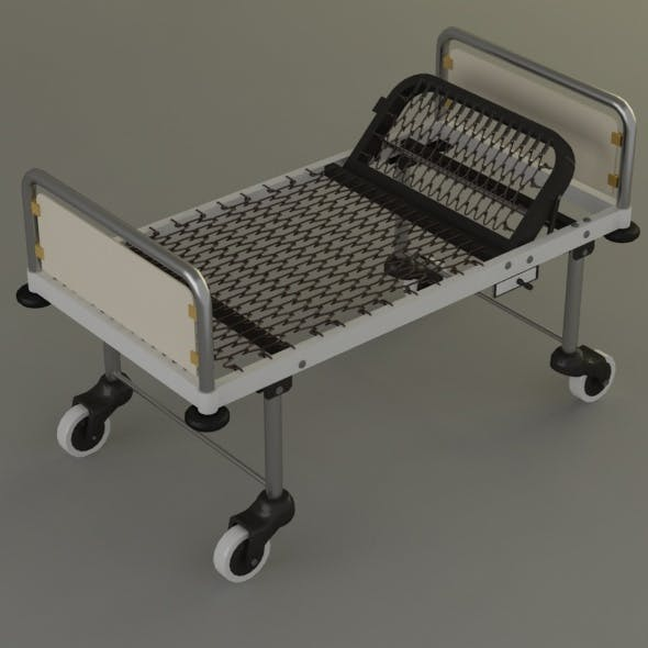 steel-hospital-bed - 3DOcean Item for Sale